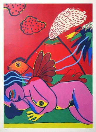 Lithograph Corneille - Lying Nude (Liegender Akt)