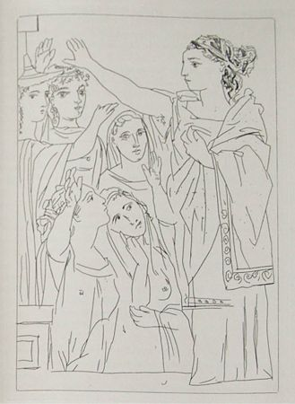 Etching Picasso - Lysistrata By Aristophanes (Signed Book)
