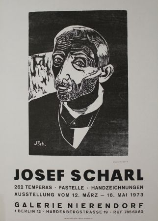 Woodcut Scharl - Männerbildnis