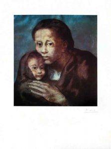 Lithograph Picasso - Mère et enfant Au Fichu