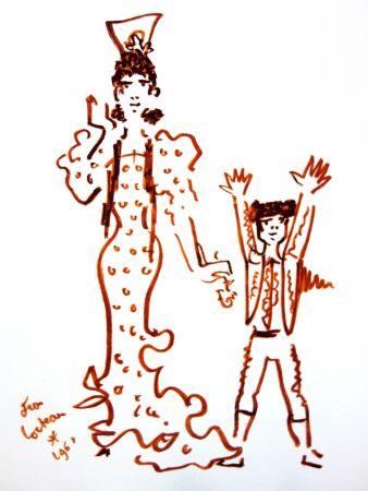 Lithograph Cocteau - Mère et Fils