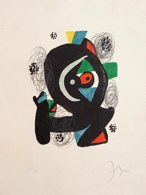 Lithograph Miró - Mélodie acide