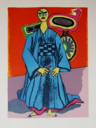 Lithograph Corneille - Mémoire du japon- la magicienne