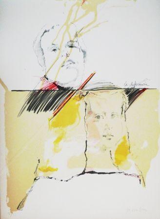 Lithograph Bru - Ménine