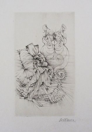 Etching And Aquatint Bellmer - Métamorphose (Papillon)