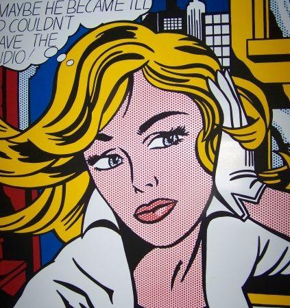 Screenprint Lichtenstein - M-maybe