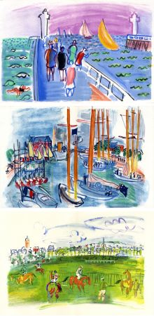 Illustrated Book Dufy - M. de Saint-Pierre : LES CÔTES NORMANDES. Lithographies de Raoul Dufy (1961)