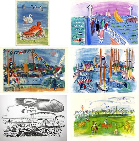 Illustrated Book Dufy - M. de Saint-Pierre : LES CÔTES NORMANDES. Lithographies de Raoul Dufy (1961)