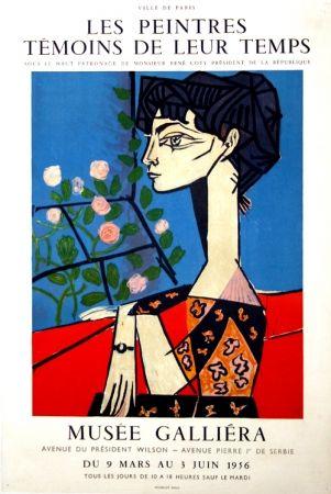 Poster Picasso -  M  Jacqueline  Exposition les Peintres  Témoins de leur Temps  Musée Galiera