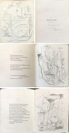 Illustrated Book Masson - M. Leiris & A. Masson : SIMULACRE. 7 lithographies originale. Dédicacé (1925)
