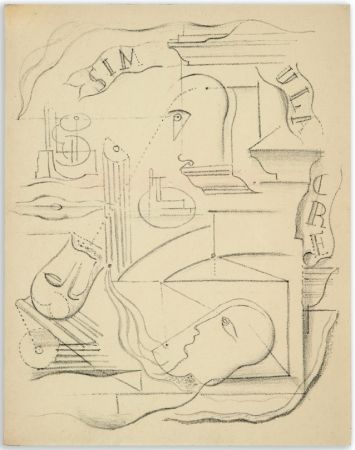 Illustrated Book Masson - M. Leiris & A. Masson : SIMULACRE. Poèmes et lithographies (1925)