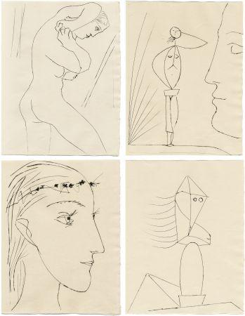 Illustrated Book Picasso - M. Toesca : SIX CONTES FANTASQUES. 6 gravures originales (1953)