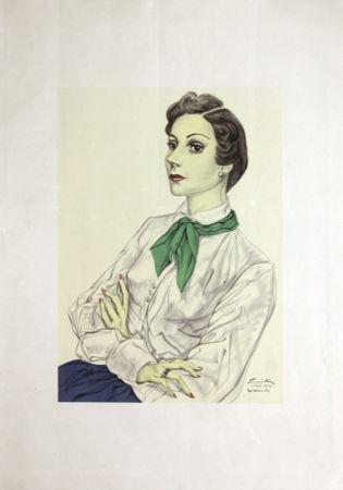 Lithograph Foujita - Madame  Conchita Mendes
