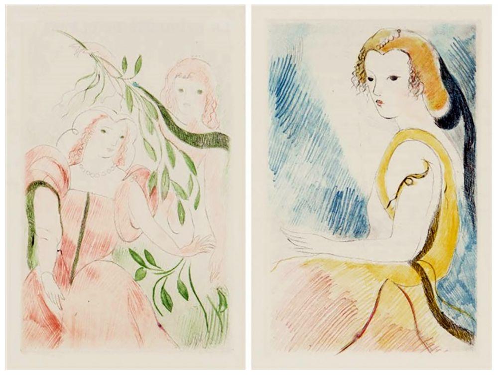 Illustrated Book Laurencin - Madame de Lafayette : LA PRINCESSE DE CLÈVES (1947)