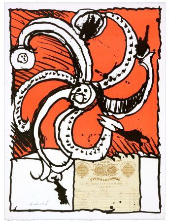 Lithograph Alechinsky - Madame de Parades