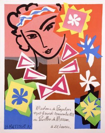 Lithograph Matisse - Madame de Pompadour