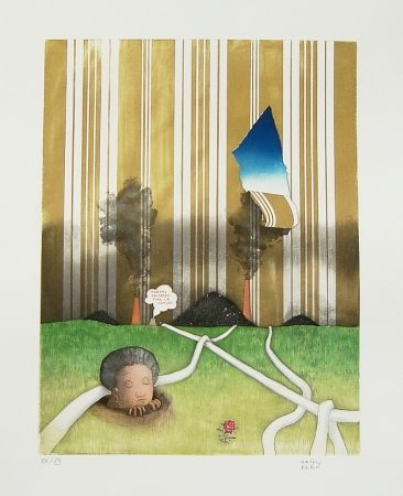 Etching And Aquatint Kern - Madame Hellbeen aime la nature