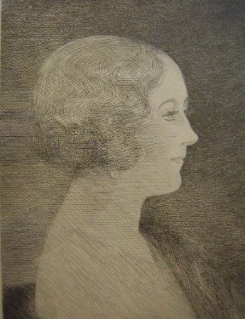 Etching Marcoussis - Madame Marcel M. Markous