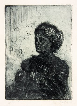 Etching And Aquatint Nolde - Madchen