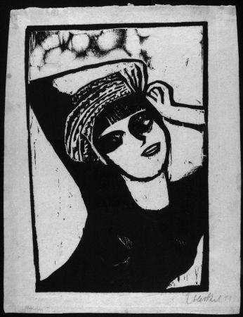 Woodcut Heckel - Madchen Mit Turban