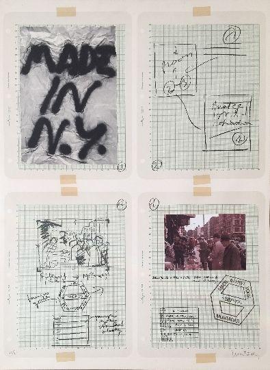 Lithograph Muntadas - Made in N.Y.