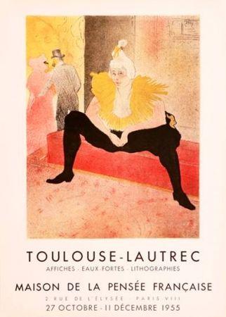 Lithograph Toulouse-Lautrec -  Mademoiselle Cha-U-Kao, Maison de la pensée française