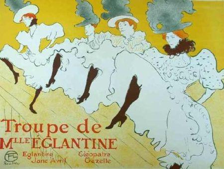 Lithograph Toulouse-Lautrec - Mademoiselle Eglantine