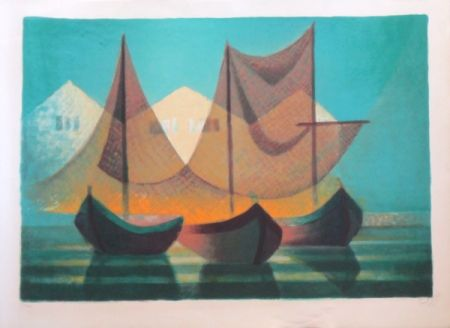 Lithograph Toffoli - Madere