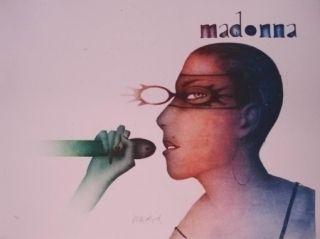 Lithograph Wunderlich - Madonna