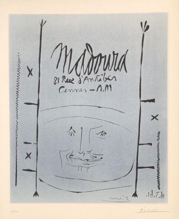 Linocut Picasso - Madoura 1961