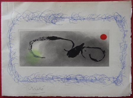Etching Miró - Maeght Voeux 1963