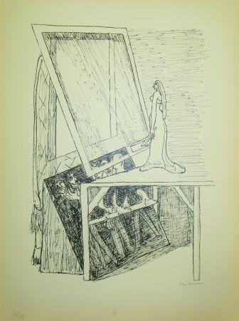 Lithograph Beckmann - Magic Mirror