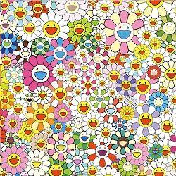 Numeric Print Murakami - Maiden in the yellow straw hat
