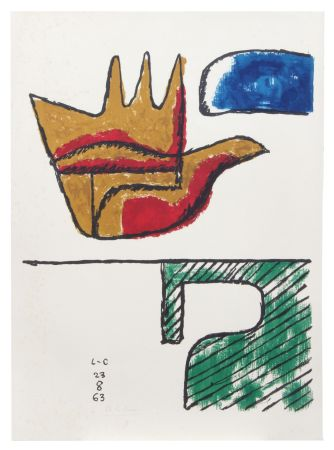 Lithograph Le Corbusier - Main ouverte (hand-signed & numbered)
