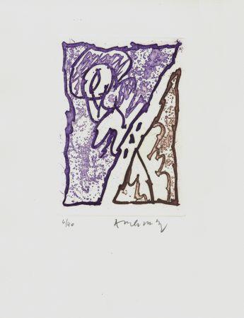 Engraving Alechinsky - '' Maint Corps de Chambres ''