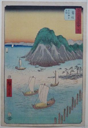 Woodcut Hiroshige - Maisaka
