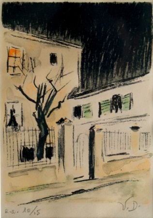 Lithograph Van Dongen - Maison a Paris