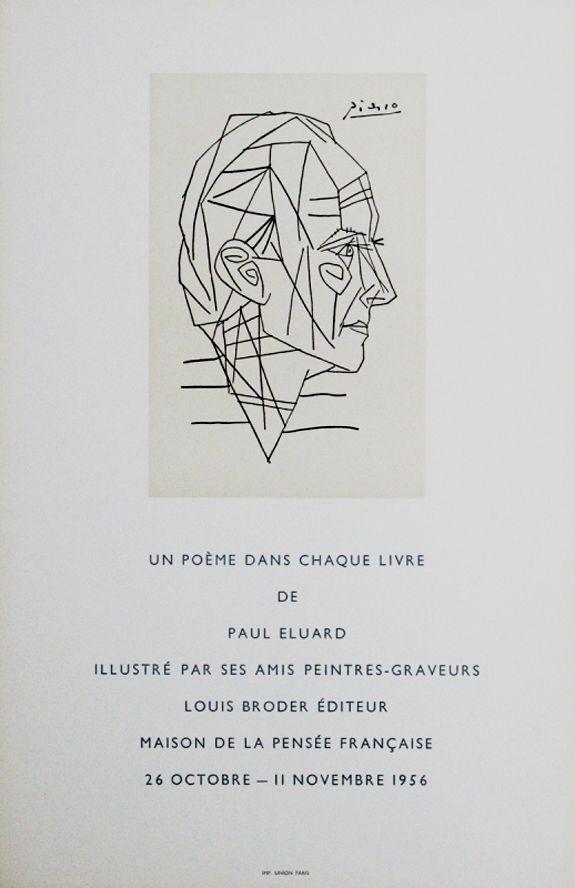 Poster Picasso - '' Maison de la Pensée Francaise ''