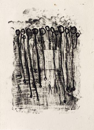 Lithograph Dubuffet - Maison forestière