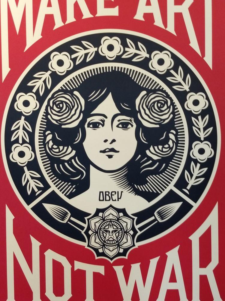 Lithograph Fairey - Make Art Not War
