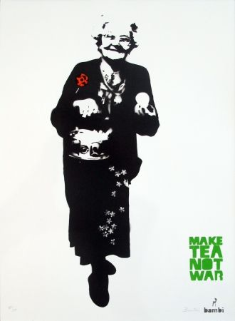 Screenprint Bambi - Make Tea Not War