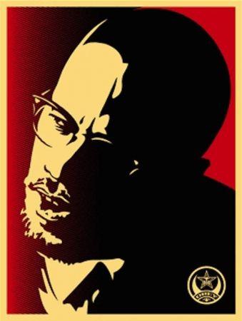 Screenprint Fairey - Malcolm X Red