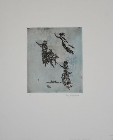Etching Zimmermann - Maler, Muse und Inspiration / Painter, Muse, and Inspiration