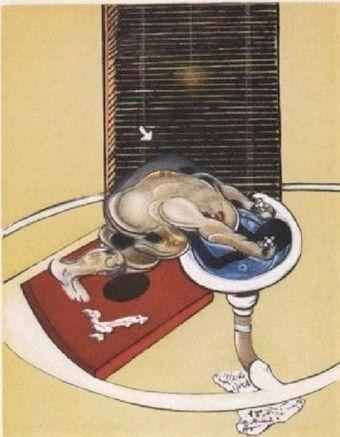 Etching And Aquatint Bacon - Man at the washbasin