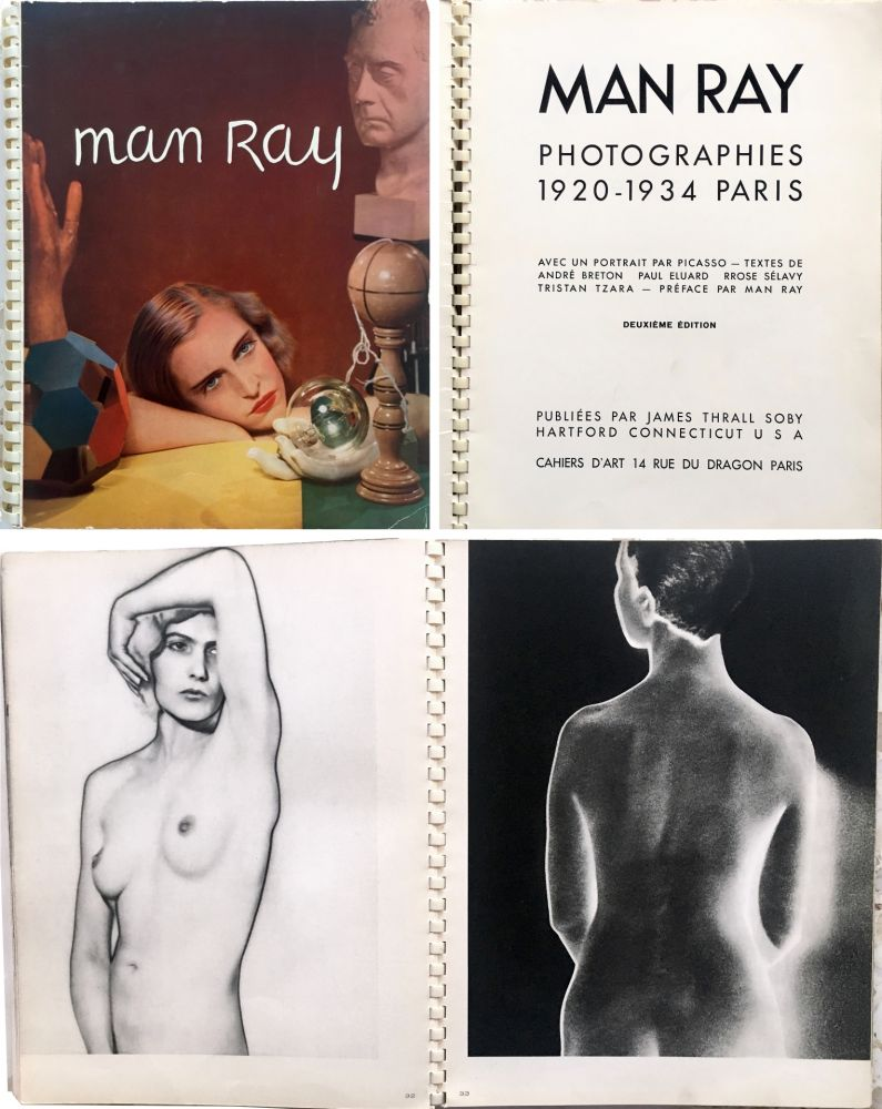 Illustrated Book Ray - MAN RAY PHOTOGRAPHIES 1920-1934.