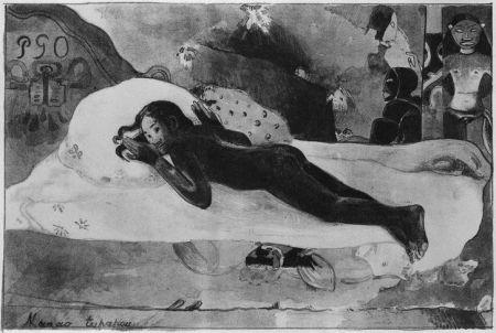 Lithograph Gauguin - Manao Tupapau