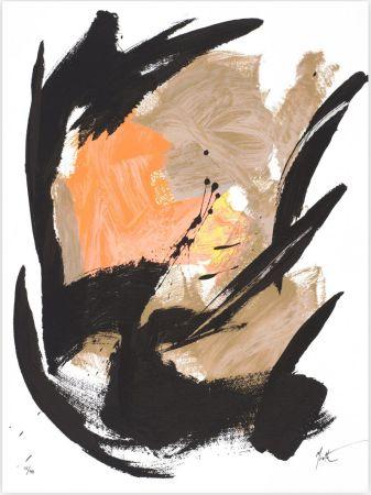 Screenprint Miotte - Mancha Central Naranja