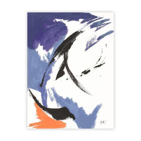 Screenprint Miotte - Mancha Naranja Inferior Izquierda