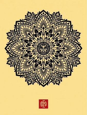 Screenprint Fairey - Mandala Ornament 1 Cream