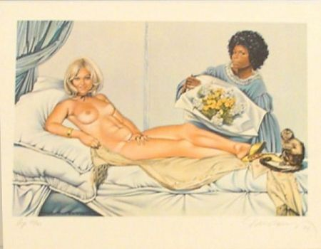 Lithograph Ramos - Manet's Olympia